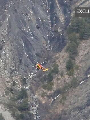 Jornal francês La Provence divulgou o que seriam imagens do local em que caiu o avião