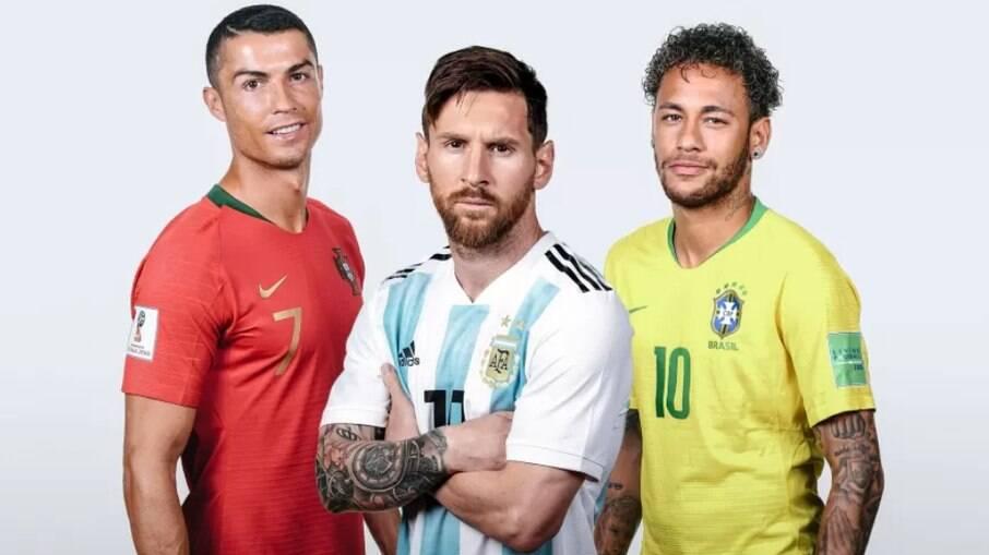 Messi, Ronaldo e Neymar