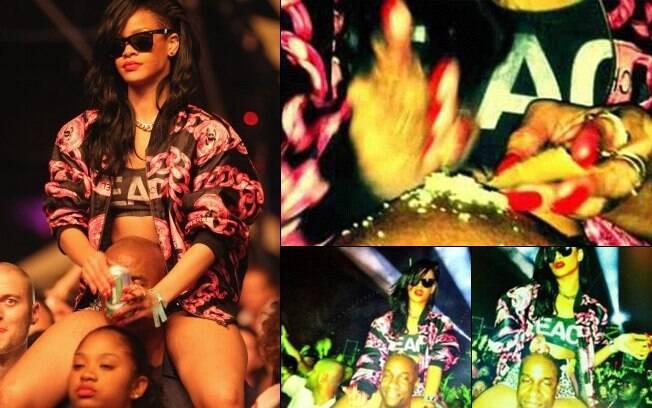 Rihanna e o polêmico pó branco