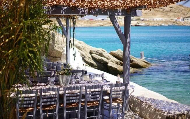 Almoço com frutos do mar fresquíssimos no Spilia