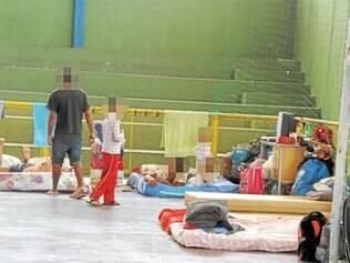 28 famílias foram levadas para o Complexo Esportivo do Teresópolis