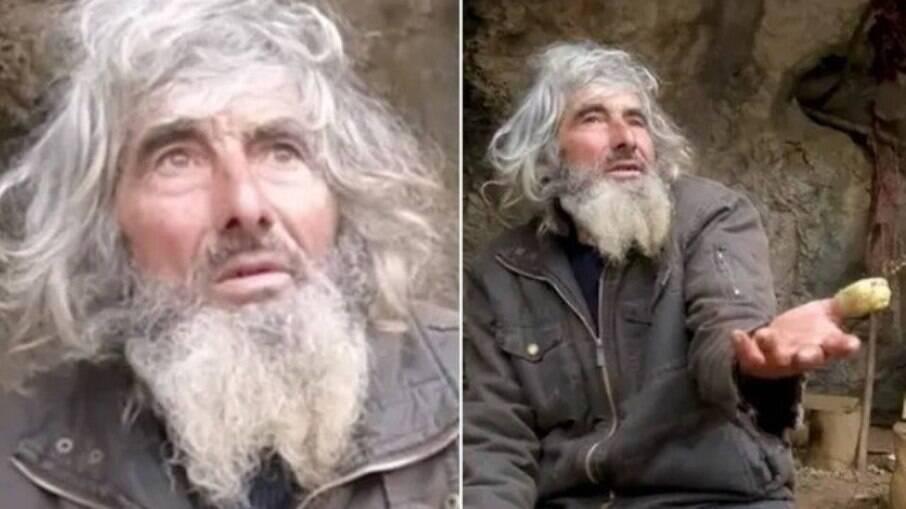 Panta Petrovic, idoso que vive em caverna e se vacinou