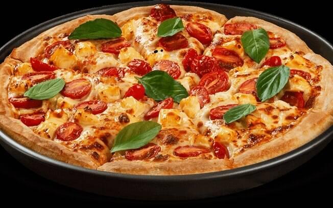 Foto da receita Pizza Marguerita de forno pronta.