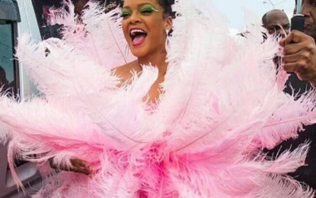 Rihanna no Carnaval de Barbados 2019