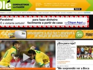 O diário esportivo argentino Olé chamou a partida de