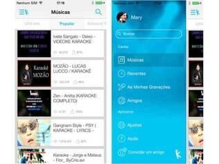 Disponível para Android e iOS, o Yokee é gratuito e permite que o usuário cante suas músicas favoritas, compartilhe suas performances e se conecte com seus amigos