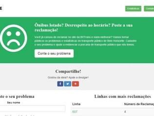 Site reúne reclamações de usuários do transporte publico