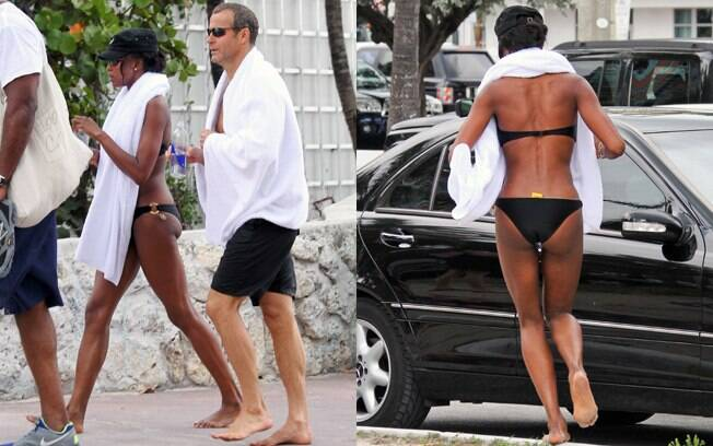 Naomi Campbell curte fim de semana na companhia do namorado Vladimir Doronin