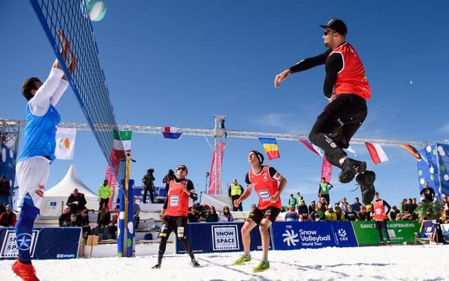 Etapa austríaca do Circuito Mundial de vôlei na neve