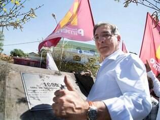 Pimentel faz visita à milésima obra do Orçamento Participativo, no dia 25 de agosto.