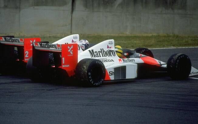 A parceria durou dois anos e rendeu um título para cada. Os pilotos colecionaram desentendimentos e desenvolveram uma das grandes rivalidades da Fórmula 1. Foto: Getty Images