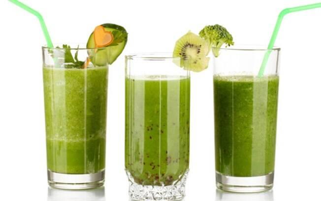 Suco verde é um clássico no cardápio detox