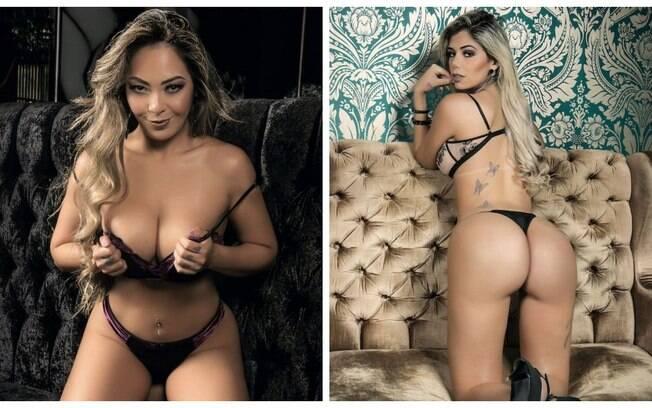 Jéssica Cristy e Elga Shitara são capas da Revista Sexy deste mês