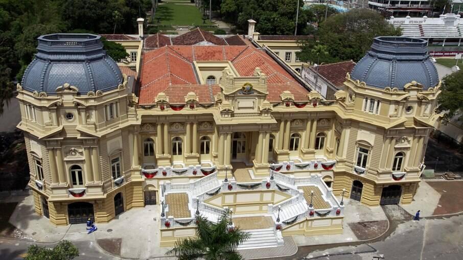 Vista aérea do Palácio Guanabara, a sede do governo do Rio de Janeiro