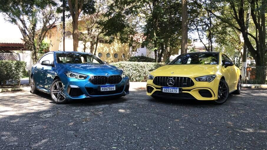 Mercedes CLA AMG e BMW M235i: sedãs esportivos que parecem iguais no propósito, mas têm uma série de diferenças