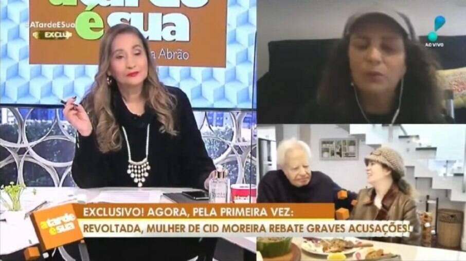 Fátima Sampaio participa do programa de Sônia Abrão