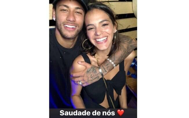 Neymar compartilha foto com Bruna Marquezine