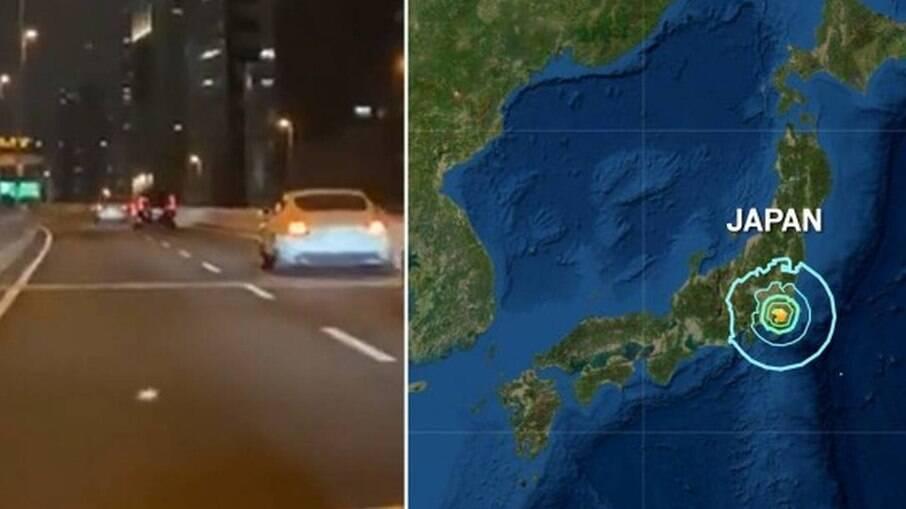 O terremoto atingiu a região de Chiba, perto da capital