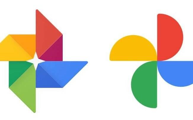 Comparação entre os ícones antigo e novo do Google Fotos