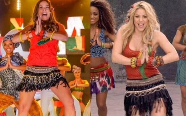 Patrícia Abravanel se fantasiou de Shakira