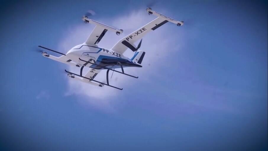Embraer eVTOL: carro voador conta com dez hélices e fez o seu primeiro voo