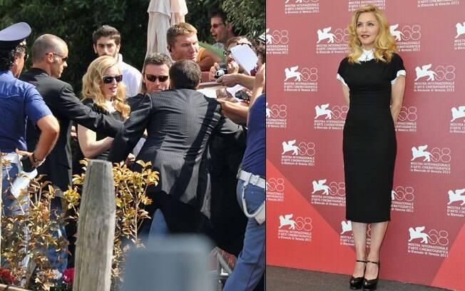 Madonna causa alvoroço em sua chegada a Veneza