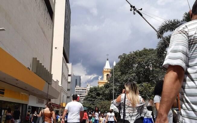 Domingo ser nublado e com previso de chuva em Campinas