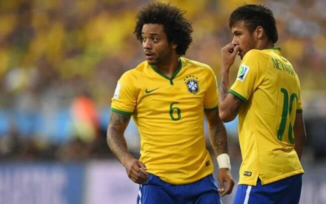 Marcelo e Neymar estão na lista de indicados da Fifa