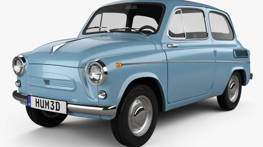 ZAZ Zaporozhets 1960 pode ser confundido com um Fiat 500 pela aparência semelhante