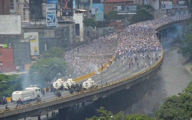Venezuela: número de manifestantes contra o governo foi superior, reunindo uma grande multidão no distrito de Baruta