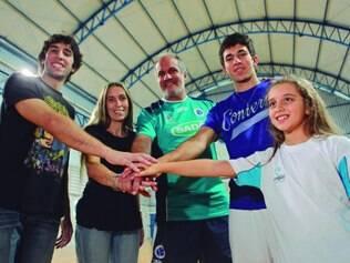 União. Presença da esposa e dos filhos, que vieram da Argentina no início do ano, é qualidade de vida para o técnico Marcelo Mendez