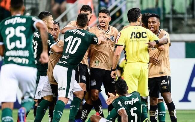 Palmeiras x Santos no Campeonato Paulista de 2019