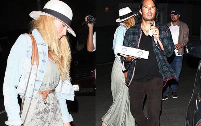 Leonardo Di Caprio e Blake Lively deixam o Hollywood Bowl juntos
