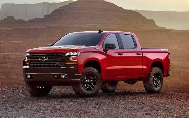 Chevrolet Silverado: já foi comercializada no Brasilmas não vingou. Apesar disso, continua sendo um grande sucesso da GM