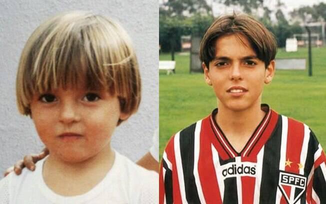 Kaká quando criança e na base do São Paulo.  Promessa que se realizou