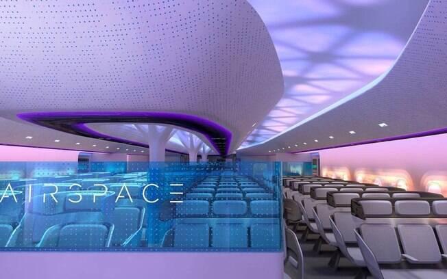 configuração de cabines será diferente da atual, com mais espaço lateral para distribuição das poltronas