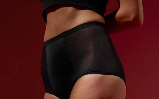 Calcinha para menstruação possui diferentes camadas para manter a higiene da pele e da região e conter o fluxo