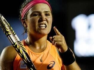 Gabriela venceu o primeiro set e teve a chance de ganhar o segundo, mas se desconcentrou no final