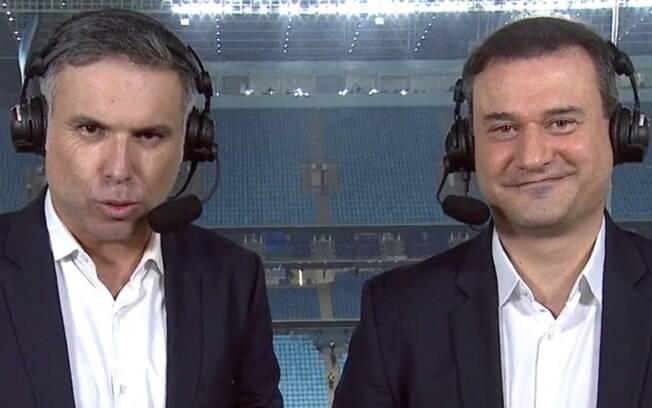 Marco de Vargas (esquerda) foi suspenso pelo Fox Sports