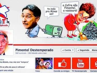 """Decisão. As páginas """"Pimentel Destemperado"""" e """"Ferrando Minas com Pimentel"""" foram tiradas do Facebook ontem por ordem judicial"""