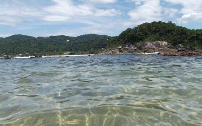 Praia das conchas localizada no Guarujá.