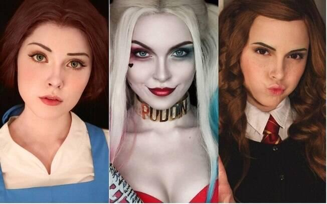 Ilona começou a trabalhar com maquiagem artística quando os amigos falaram que ela é parecida com uma personagem