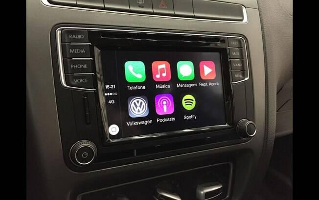 O App Connect se destaca pelo processamento e rapidez dos comandos, que podem ser controlados pelo volante