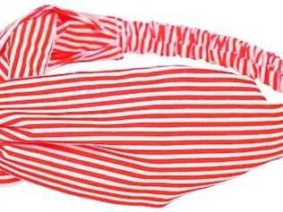 Faixa turbante da AmoMuito.com, R$ 34,90. Os lenços chegaram com tudo para o verão