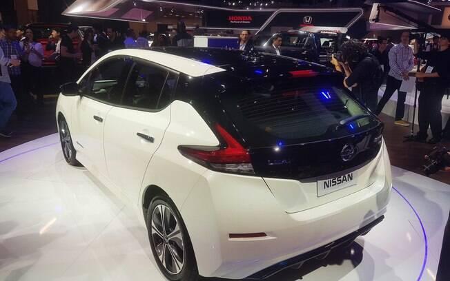 Nissan Leaf está no Salão do Automóvel 2018 e vai chegar às lojas no Brasil durante o ano que vem