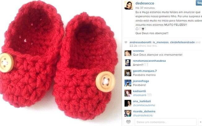 Deborah Secco comemora novidade no instagram
