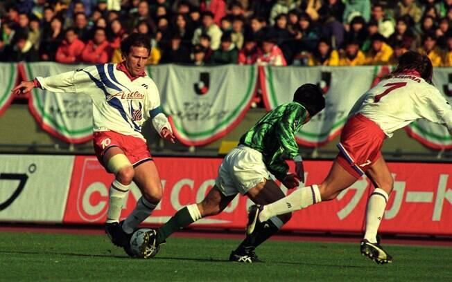 No fim da carreira, Zico jogou no Kashima  Antlers, do Japão