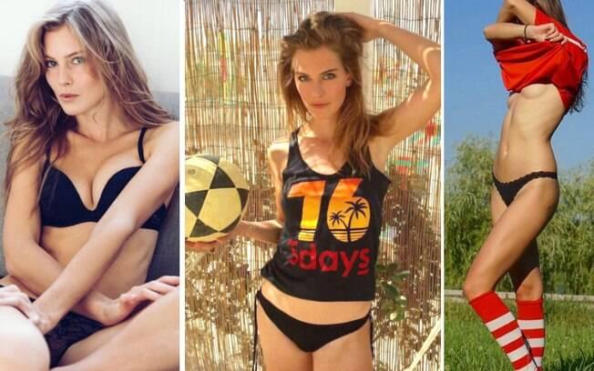 Astrid Ericsson já jogou futebol profissionalmente, mas agora se arrisca no futevôlei