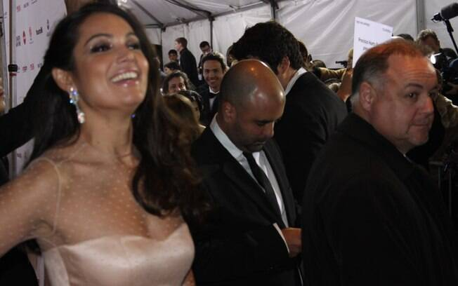 Patrícia Poeta no Emmy Awards