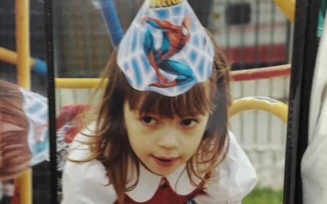 Natália Scuriza sempre foi fã do Homem-Aranha, que foi tema de seu aniversário